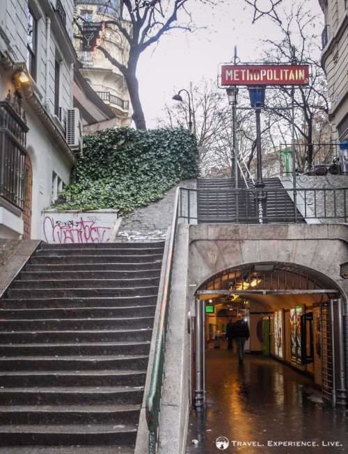 The Métro in Paris, France