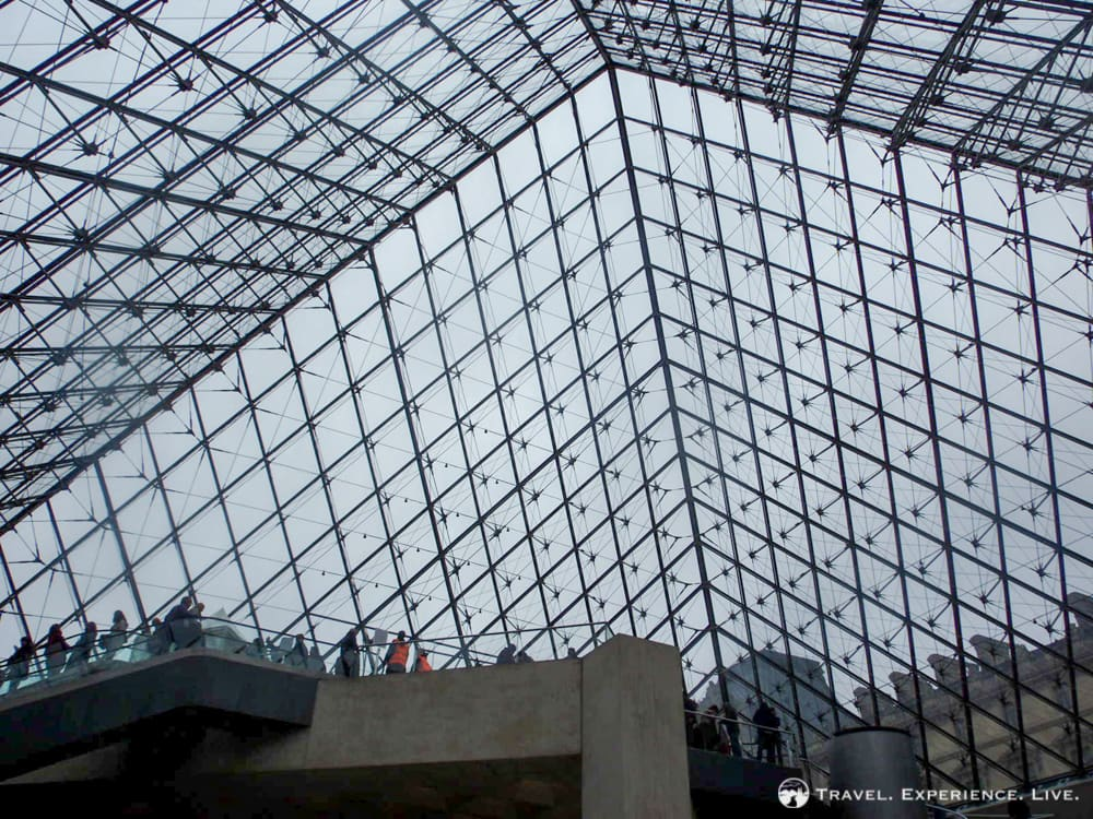 The pyramid of the Louvre, Paris