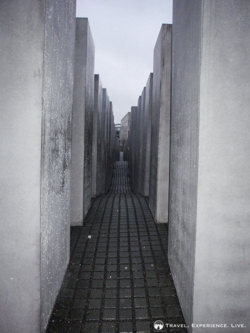 The gray stones of the Holocaust Memorial, Berlin