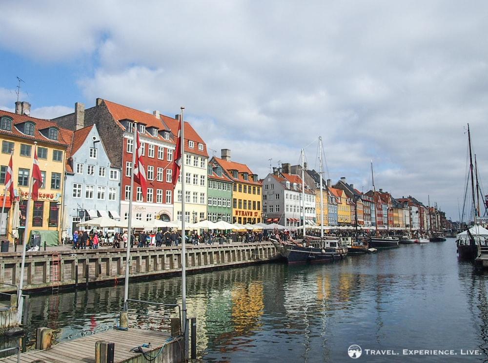 Nyhavn, or New Harbor, in Copenhagen, Denmark