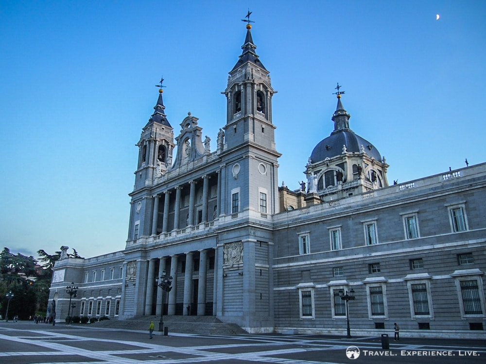 The striking Almudena Cathedral