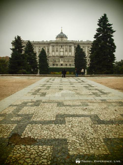 Royal Palace seen from Campo del Moro