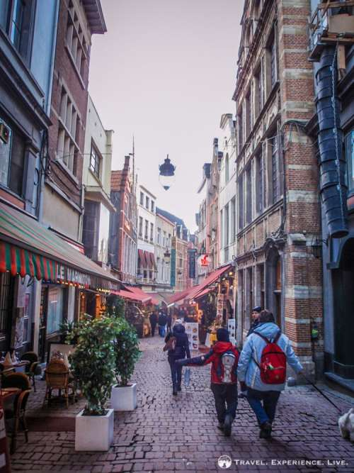 The Rue des Bouchers in Brussels, Belgium