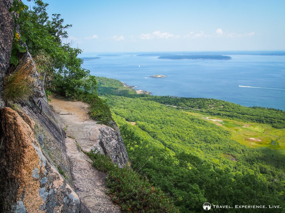 What to Do in Acadia National Park: Hiking on Champlain Mountain