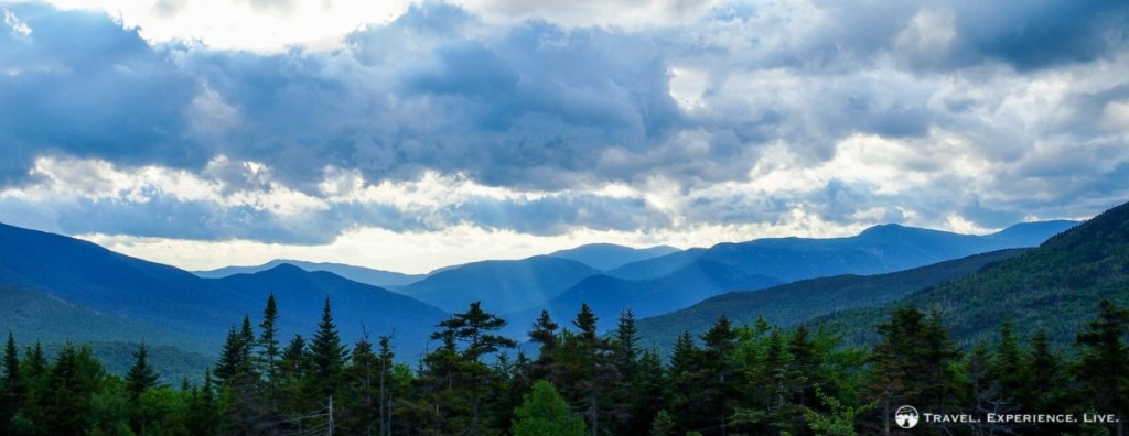 Travel panorama of the White Mountains, New Hampshire