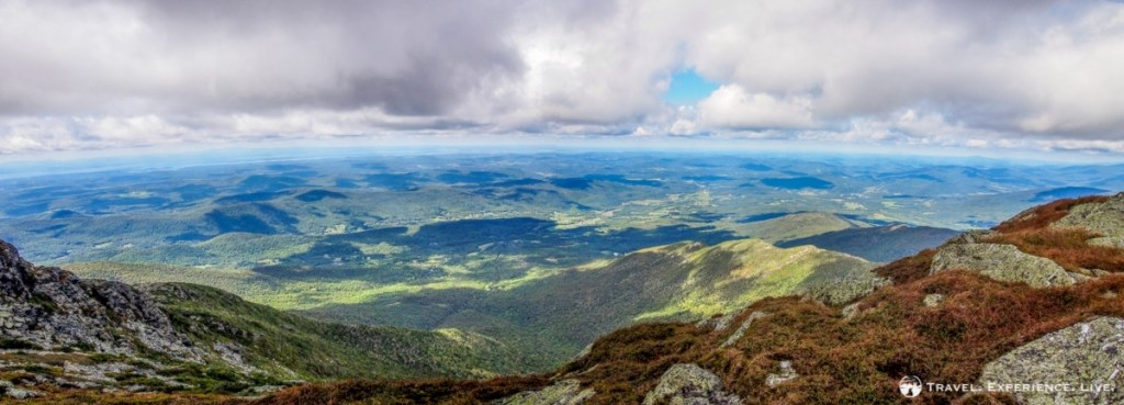 Vista from Mount Mansfield, the roof of Vermont