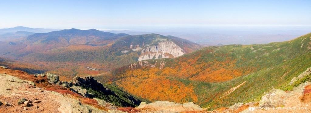 Fall foliage seen from Franconia Ridge, New Hampshire
