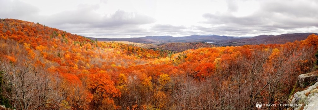 Gorgeous fall landscape in New Hampshire