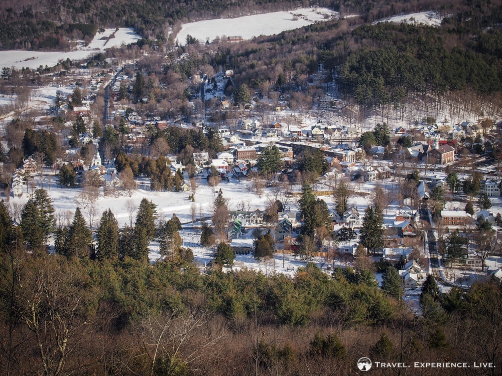 Woodstock seen from the Faulkner Trail, Vermont