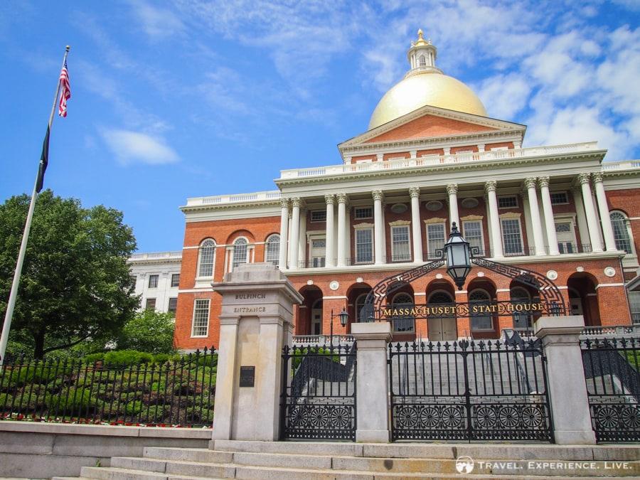 Massachusetts State House, start of the Freedom Trail, Boston
