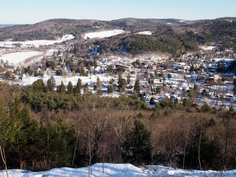 View of Woodstock from Mount Tom, Vermont