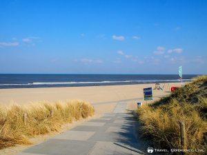 Beautiful beach in Katwijk-aan-Zee, the Netherlands
