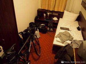 A tiny hotel room in Hamburg