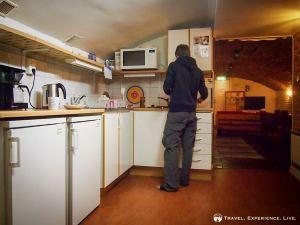 Cooking dinner in a hostel in Mjölby, Sweden