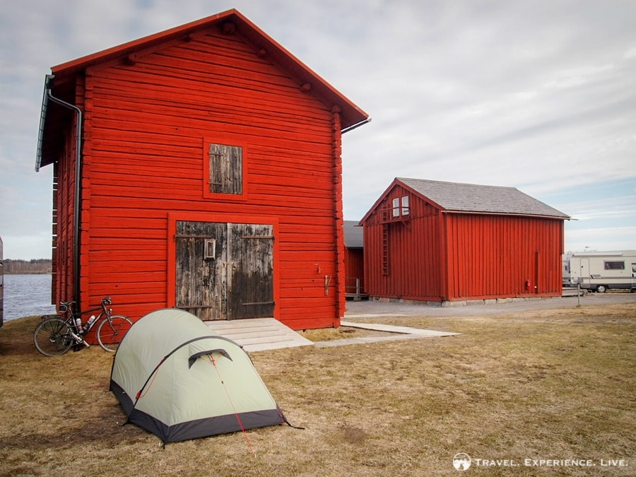 Campground in Piteå, Sweden