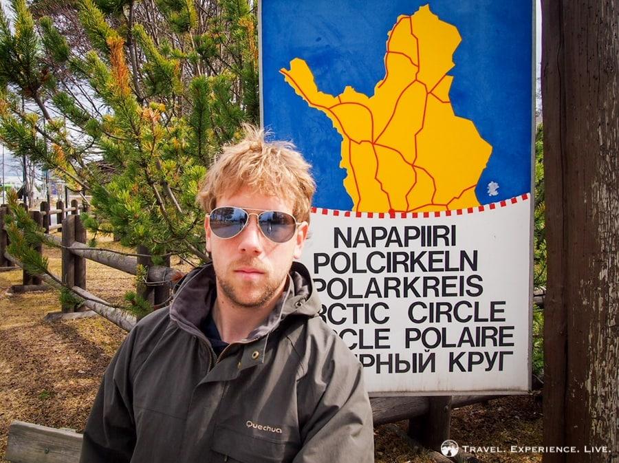 An Arctic Circle selfie