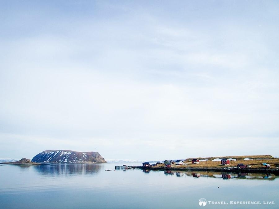Small fishing settlement in Finnmark, Norway