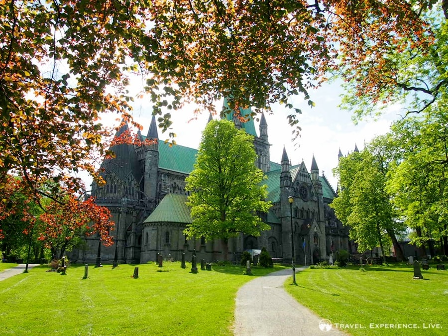 The massive Nidaros Cathedral, Trondheim