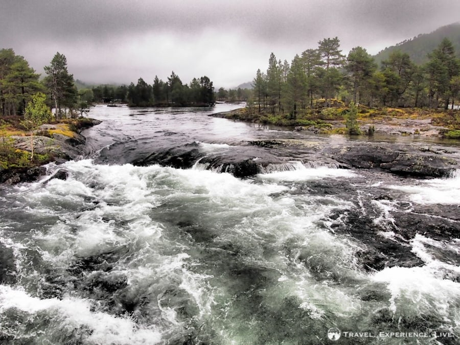 Wild river in western Norway