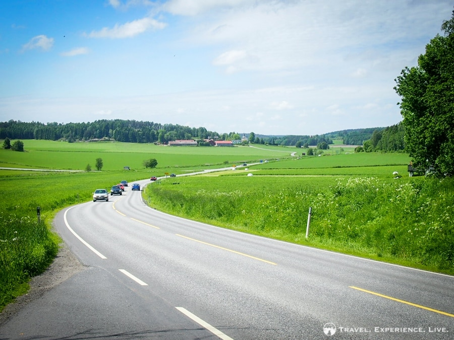 Pretty green roads in southern Norway