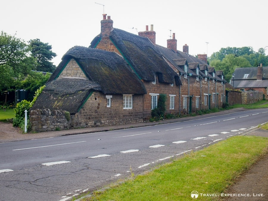 Thatched roofs in rural England