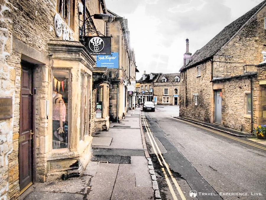 Gorgeous stone buildings in the Cotswolds