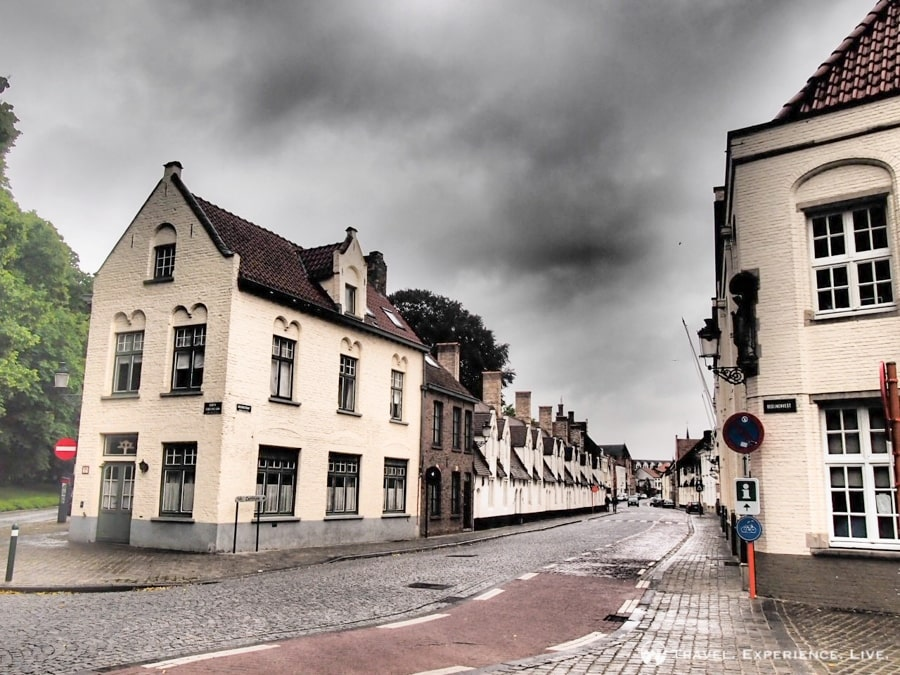 Cycling through the suburbs of Bruges, Belgium