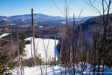 View of Wichapauka Pond from Webster Slide Mountain