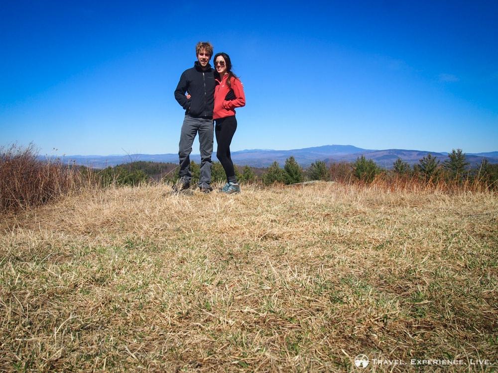 Bram and Caroline hiking Bald Top Mountain