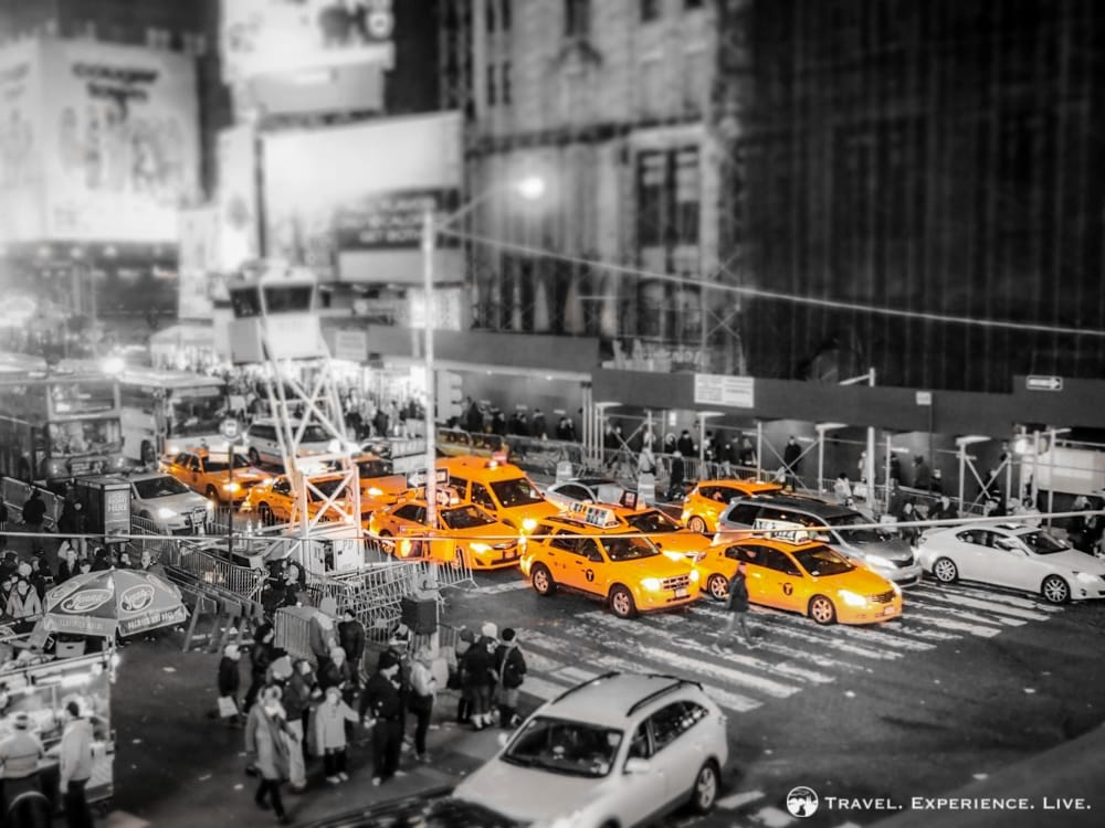 A Bunch of Taxis in Manhattan