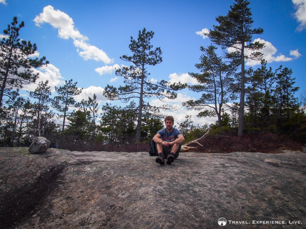Resting on Blueberry Mountain, New Hampshire