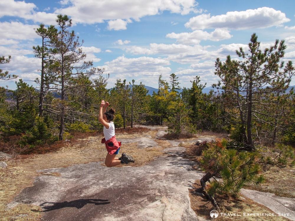 Hiking on Blueberry Mountain, New Hampshire