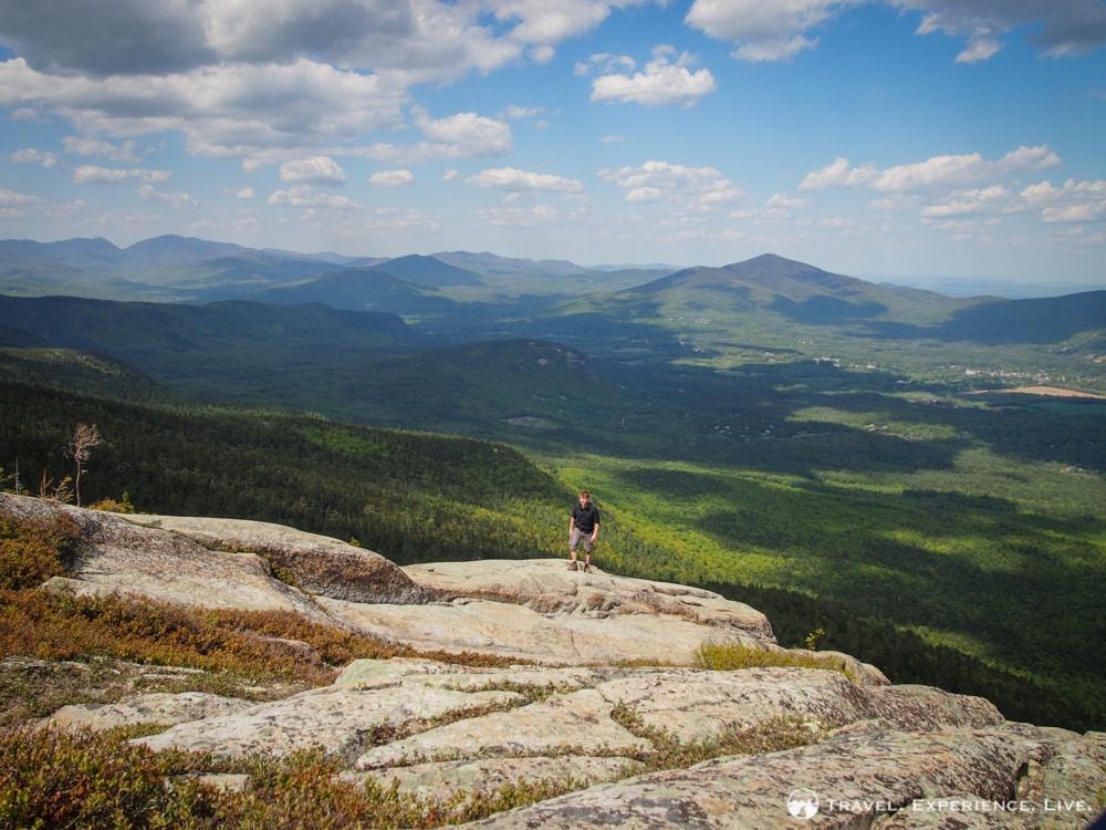 Bram Reusen exploring South Moat Mountain