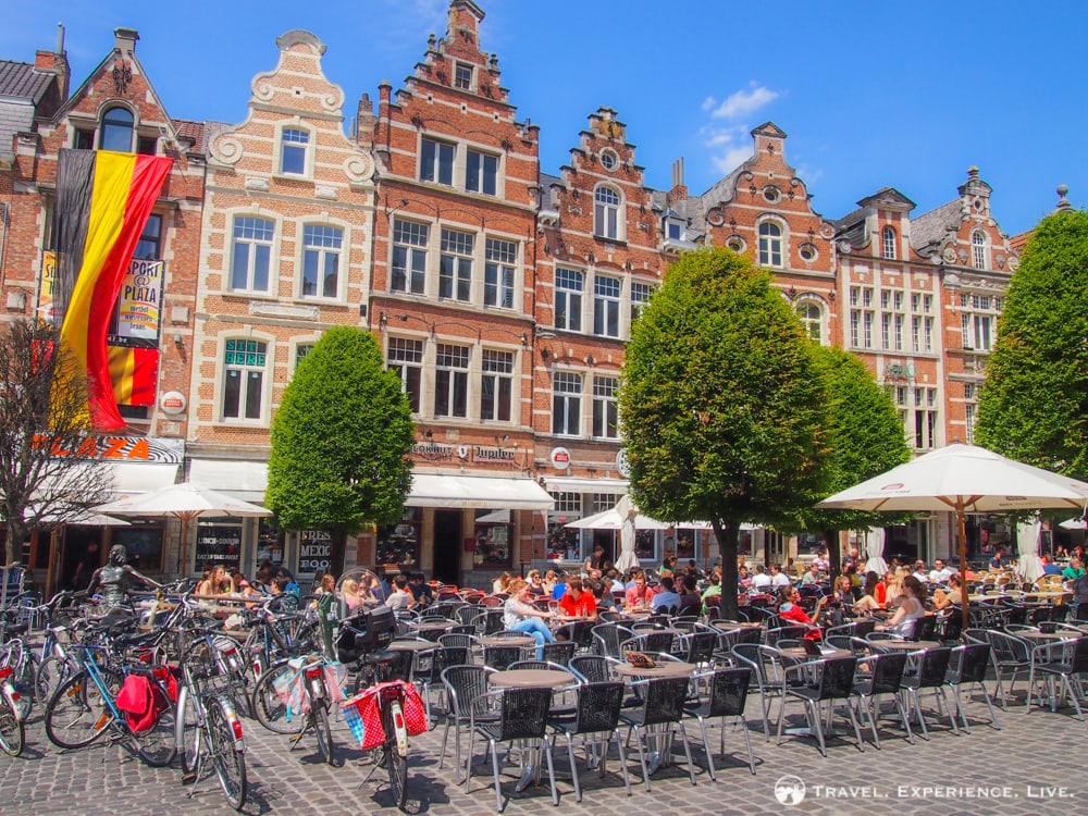 Summer and Falls Plans: Old Market Square in Leuven, Belgium