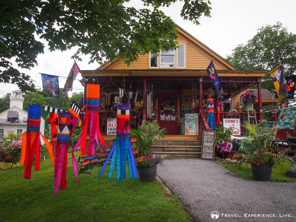 Anniversary in Stowe: Souvenir store in Stowe, Vermont