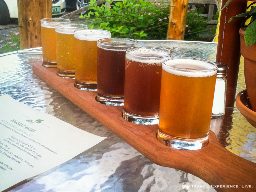 Anniversary in Stowe: Vermont craft beer sampler