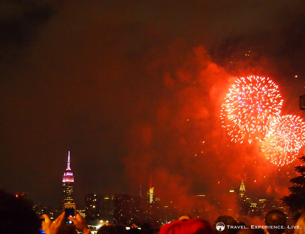 4th of July in New York City: Empire State Building Fireworks