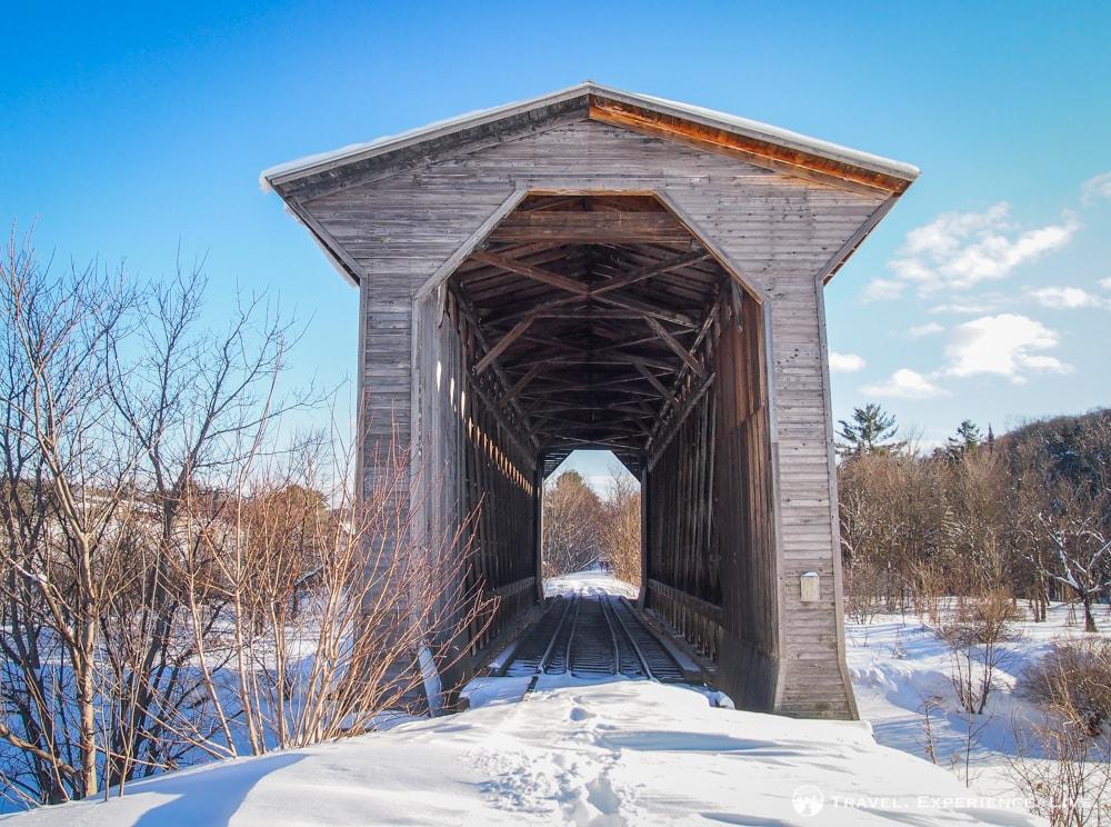 Fisher Railroad Bridge, Wolcott, Covere Bridges in Vermont