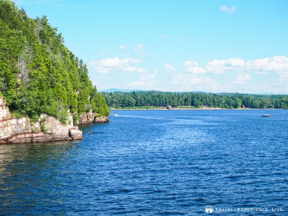 Lake Champlain shoreline, Burlington, Vermont