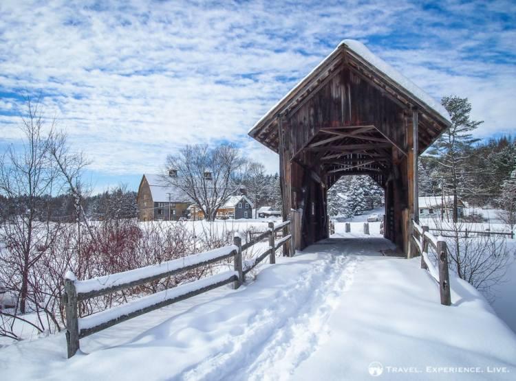 Orton/Martin Bridge, Marshfield, Covered Bridges in Vermont