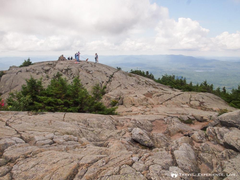 People on the summit of Mount Kearsarge