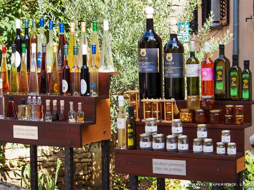Olive oils and wines in Istria, Croatia