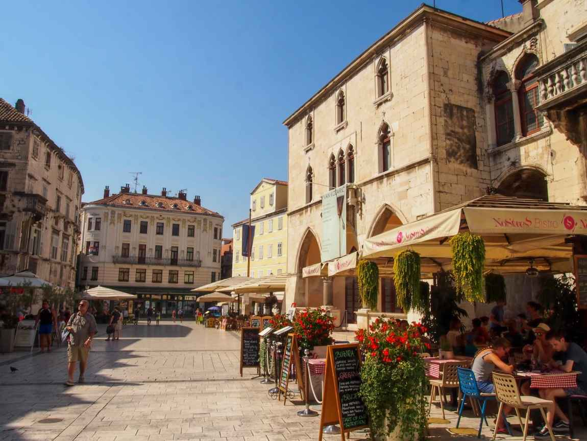 Cozy square in Split, Croatia