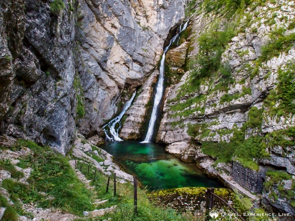 Savica Waterfall in Triglav National Park, Slovenia