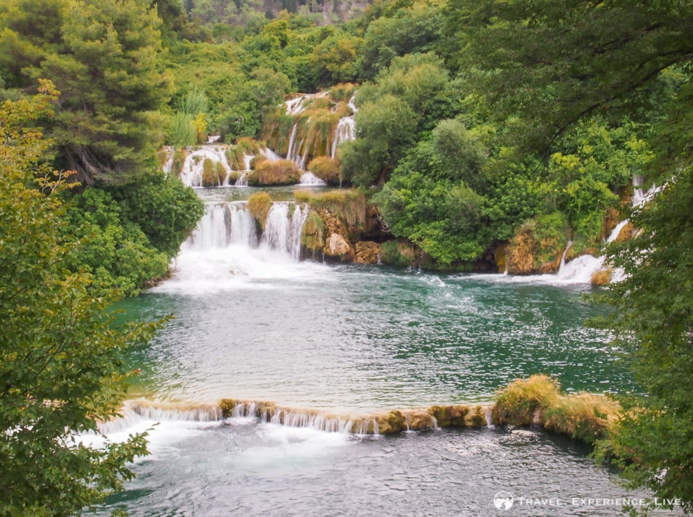 Series of waterfalls in Krka National Park, Croatia