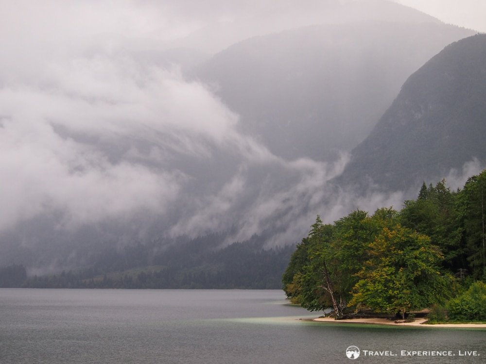 Clouds over Lake Bohinj, Slovenia