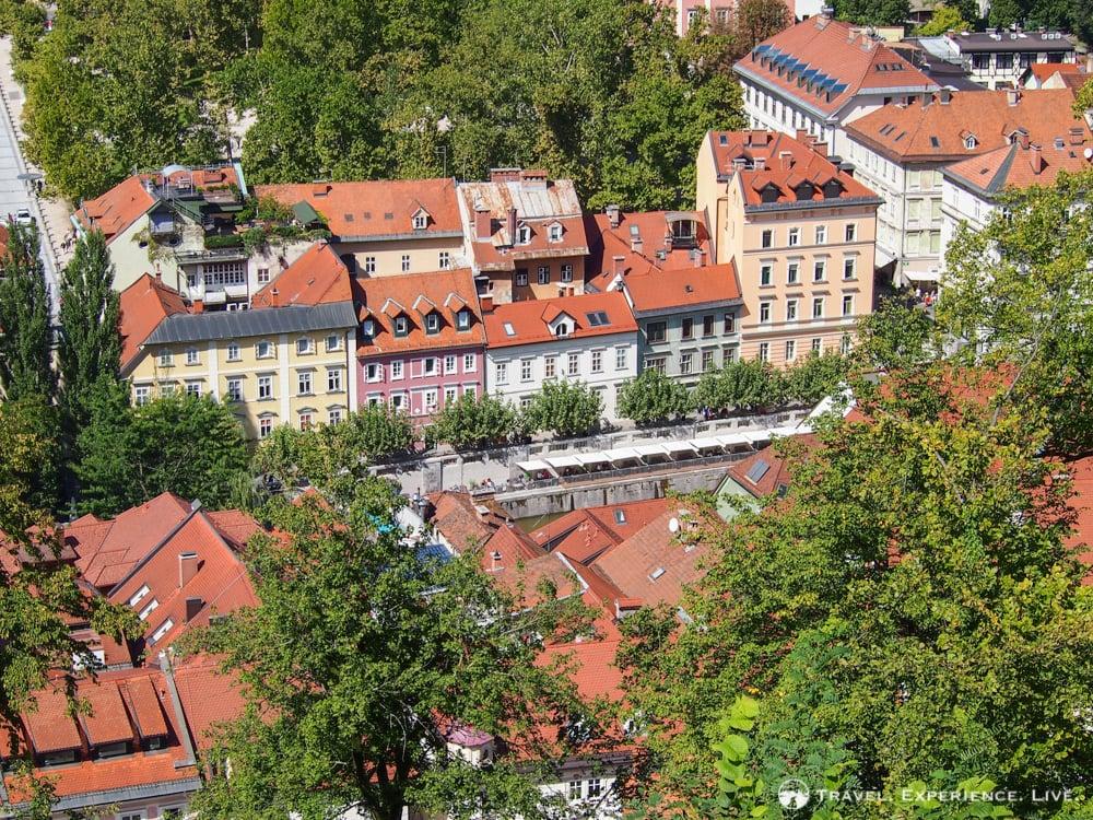 Buildings seen from Ljubljana Castle
