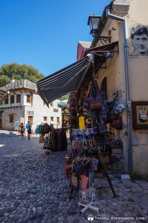 Purses and souvenirs in Mostar