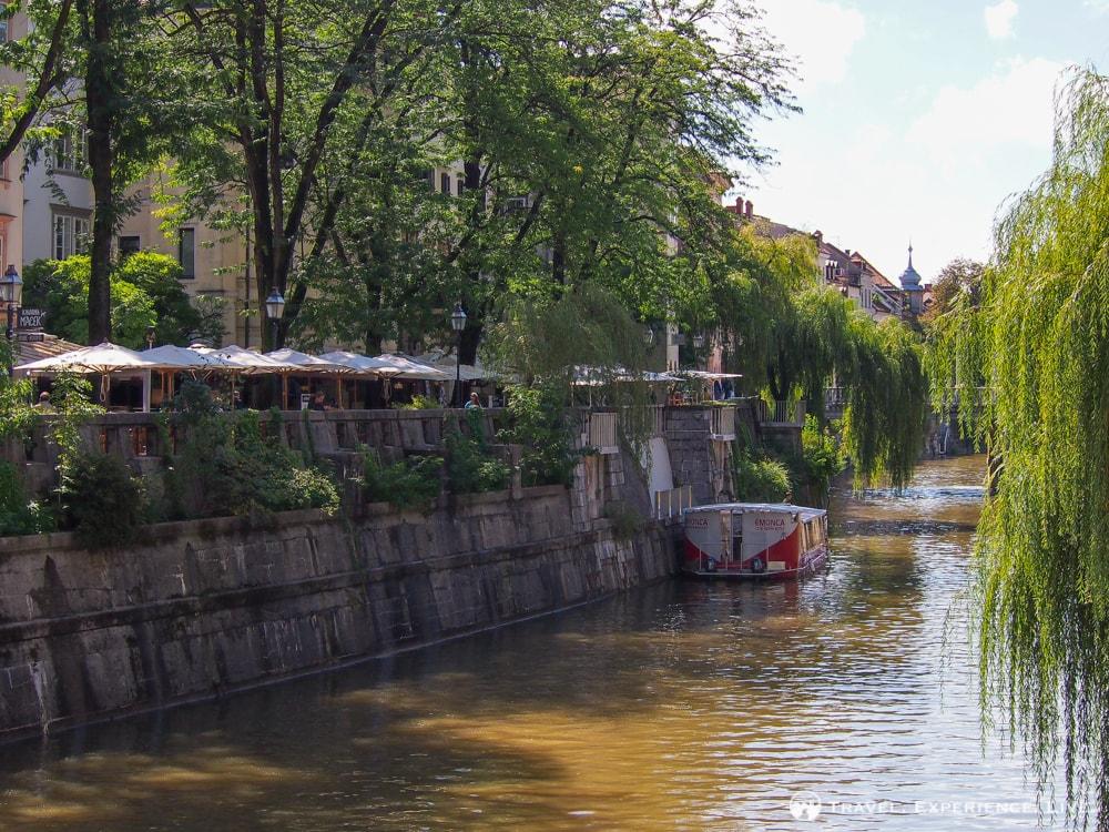 Restaurant on the Ljubljanic River, Slovenia