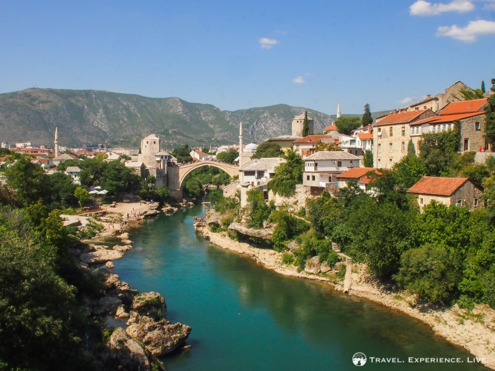 View of the Stari Most, Photos of Mostar